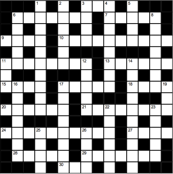 Cryptic crossword (Welcome Week)