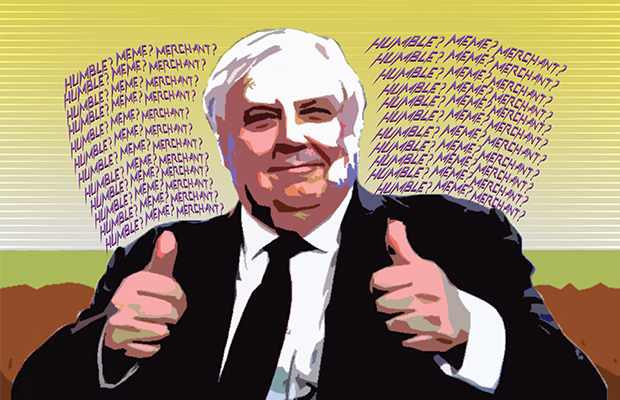 Clive Palmer giving thumbs up