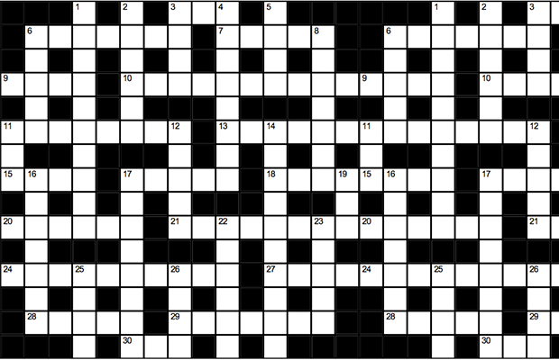 A graphic depicting a crossword
