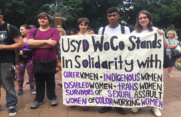 USyd's Wom*ns Collective (WoCo) was present at the IWD 2019 rally in solidarity.