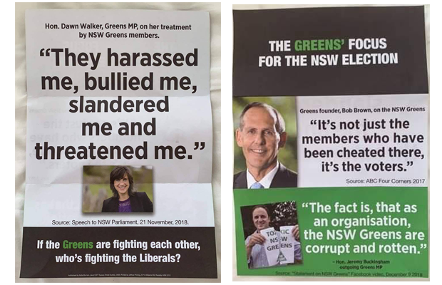 Campaign materials distributed by NSW Labor quoting Jeremy Buckingham
