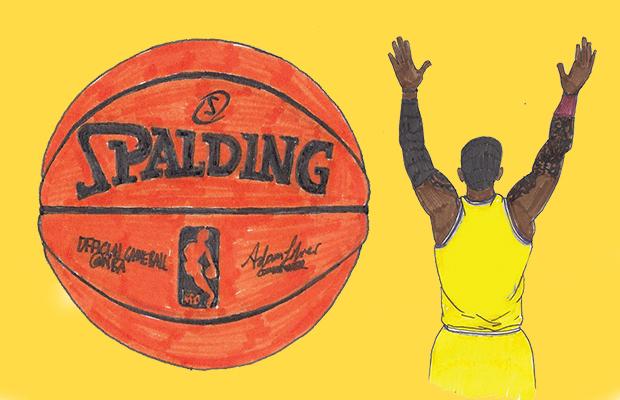 art of basketball player and basketball