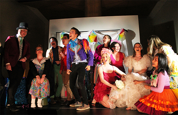 A photo of the cast on stage