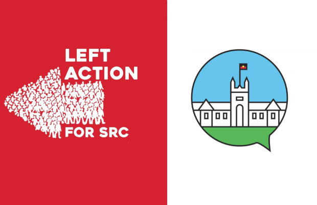 An image showing the Left Action logo and the SRC logo