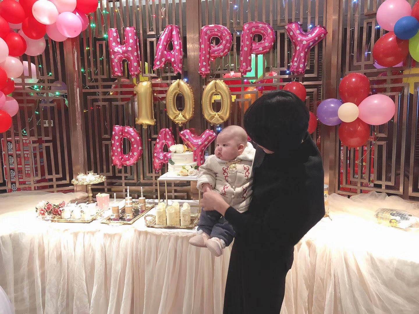 A celebration for baby's 100days from being born.