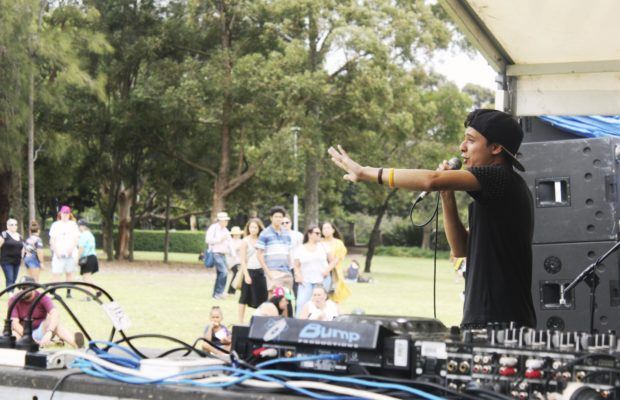 Rapper MC Dobby on the Young Black and Deadly Stage.