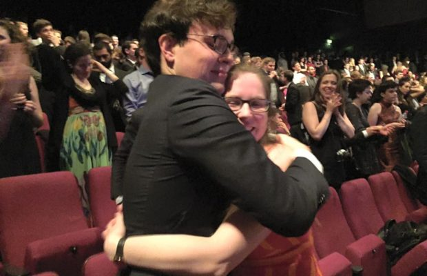 Worlds University Debating Championships winners Emma Johnstone and James Leeder.