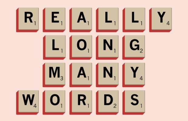 really long, many words