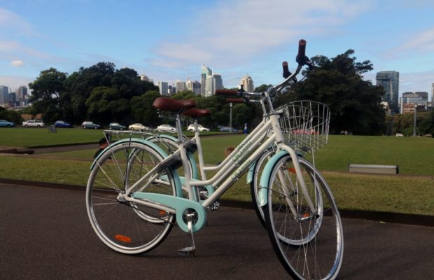 Two of Airibike's bicycles that will be available for use in september