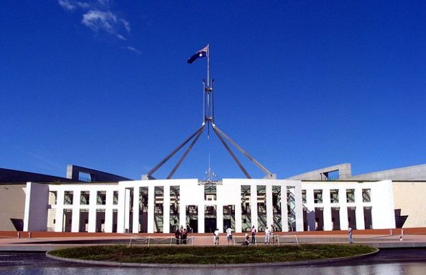A photo of Parliament House in Canberra