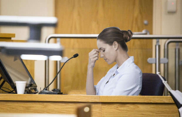 sharon on the witness stand