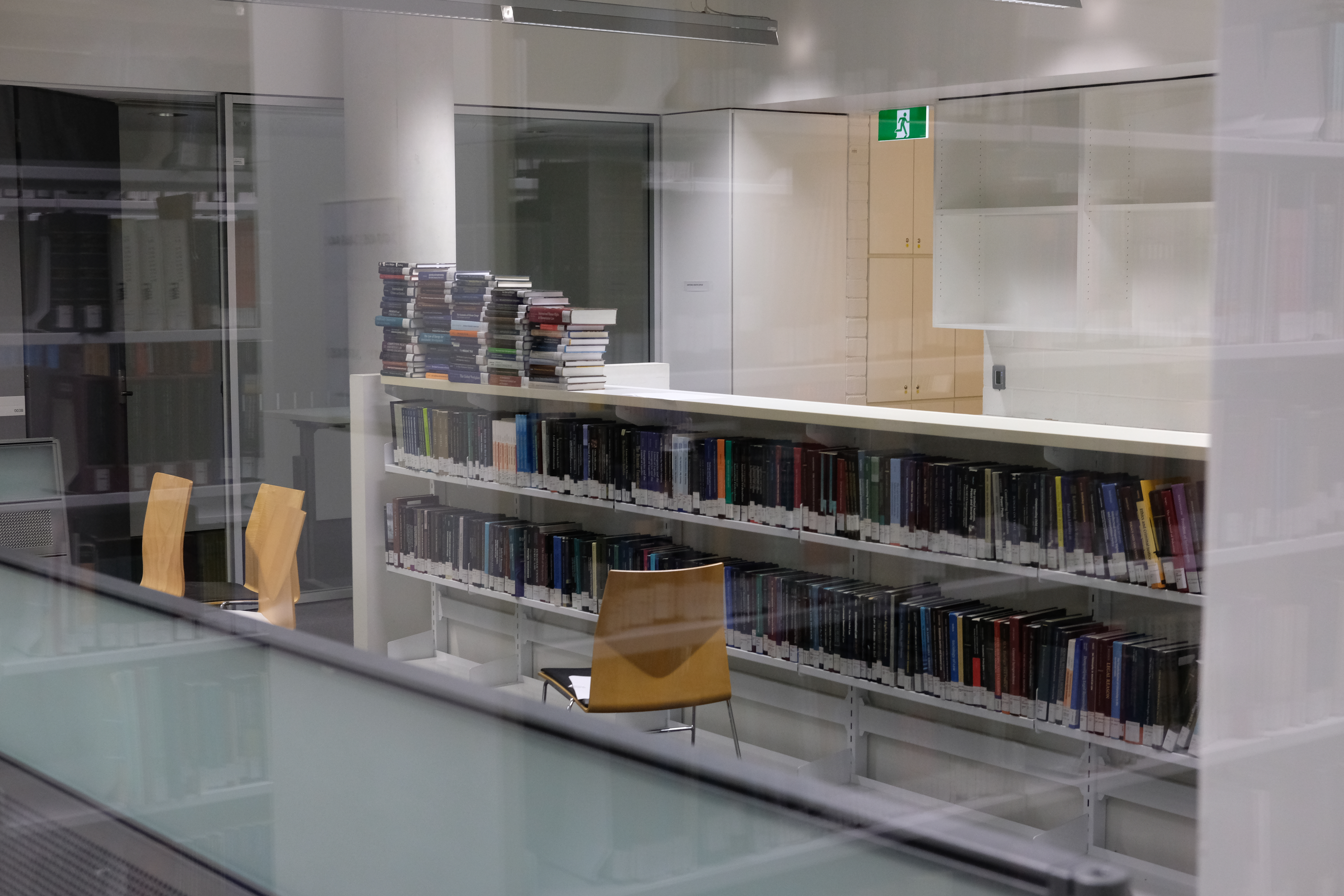 Some of the books to be discarded in a locked room in the Law Library. Photo: Nick Bonyhady.