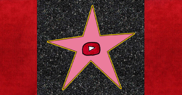 YouTube logo superimposed on Walk of Fame star