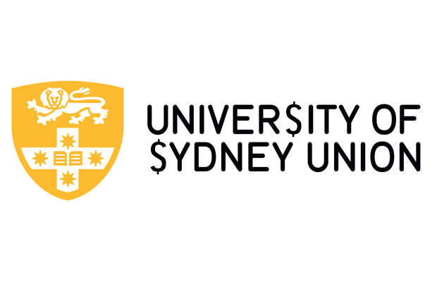 The University of Sydney Union logo but the S has been replaced by a dollar sign