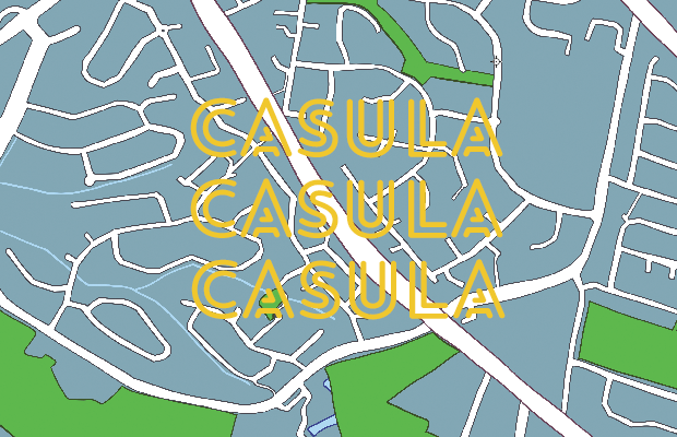 Map of Casula