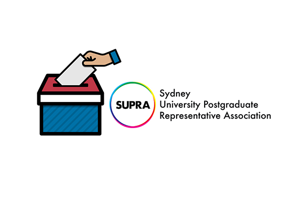 Ballot box clip art next to SUPRA logo