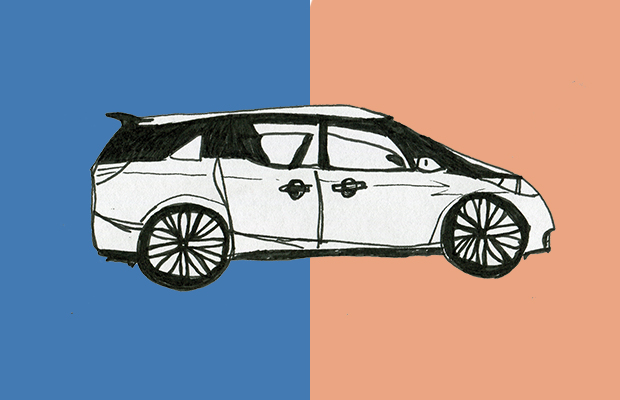 Drawing of a Toyota Tarago