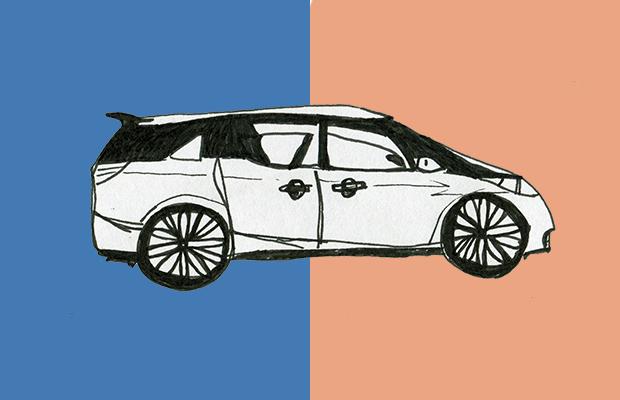 Drawing of a Toyota Tarago