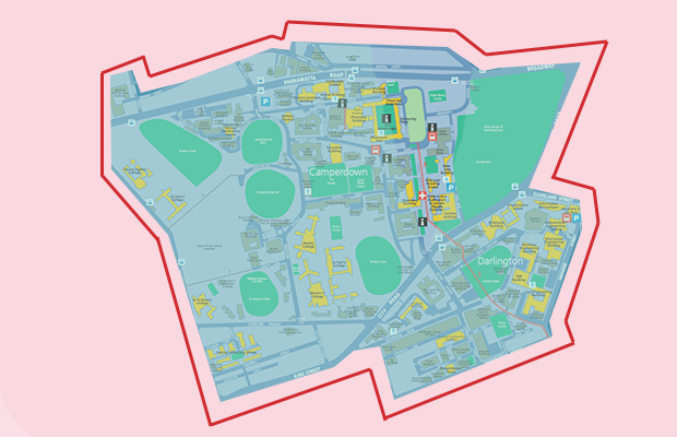 Map of USYD