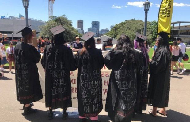 USyd WoCo protests at Welcome Week
